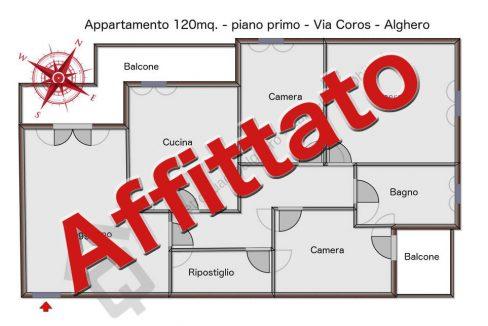 Planimetria Appartamento 120mq. via coros Alghero